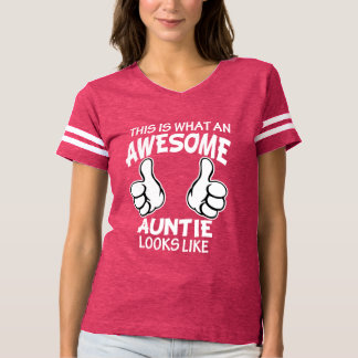 This is what an awesome auntie looks like funny t shirt