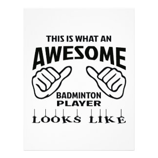 This is what an awesome Badminton player looks lik Letterhead