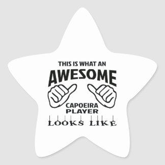 This is what an awesome Capoeira player looks like Star Sticker