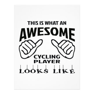 This is what an awesome Cycling player looks like Letterhead