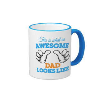This is what an awesome dad looks like taza de dos colores