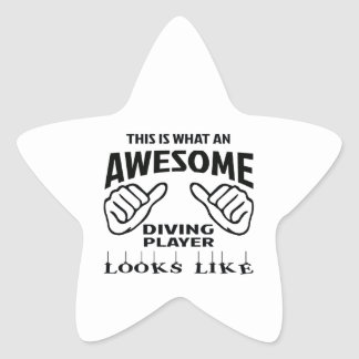 This is what an awesome Diving player looks like Star Sticker