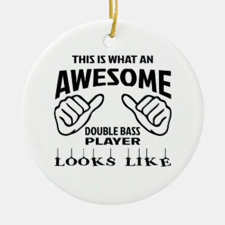 This is what an awesome Double Bass player looks l Ceramic Ornament