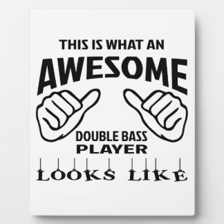 This is what an awesome Double Bass player looks l Plaque