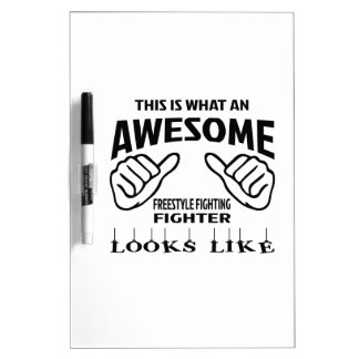 This is what an awesome Freestyle Fighting Fighter Dry-Erase Board