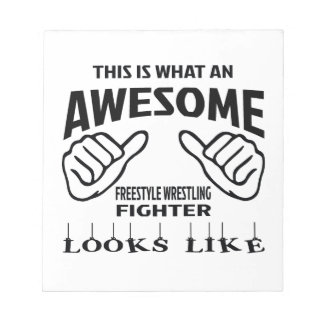 This is what an awesome Freestyle Wrestling Fighte Notepad