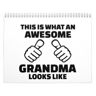 This is what an awesome grandma looks like calendar