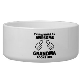 This is what an awesome grandma looks like dog water bowl