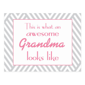 This Is What An Awesome Grandma Looks Like Postcard