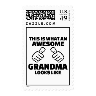 This is what an awesome grandma looks like stamp