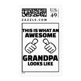 This is what an awesome grandpa looks like postage