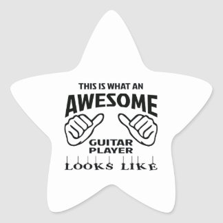 This is what an awesome guitar player looks like star sticker