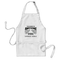 This is what an awesome Handball player looks like Adult Apron