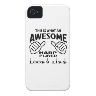 This is what an awesome Harp player looks like iPhone 4 Case-Mate Cases