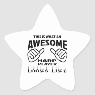 This is what an awesome Harp player looks like Star Sticker