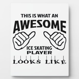 This is what an awesome Ice skating player looks l Plaque