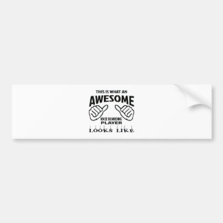 This is what an awesome Knee Boarding player looks Bumper Sticker