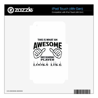 This is what an awesome Knee Boarding player looks Decals For iPod Touch 4G