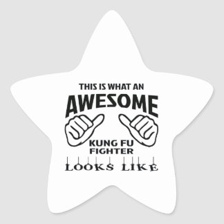 This is what an awesome Kung Fu Fighter looks like Star Sticker