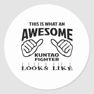 This is what an awesome Kuntao Fighter looks like Classic Round Sticker
