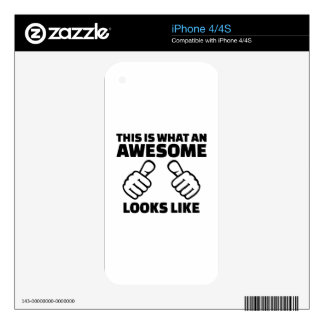 This is what an awesome looks like iPhone 4 skin