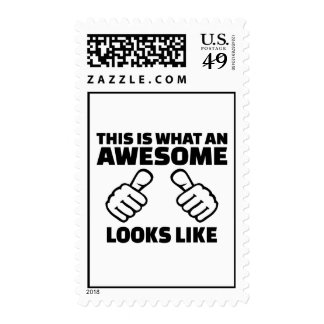 This is what an awesome looks like postage stamps