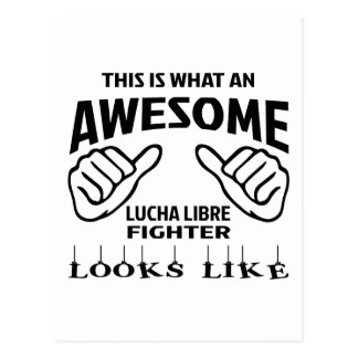 This is what an awesome Lucha Libre Fighter looks Postcard