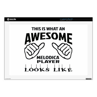 """This is what an awesome Melodica player looks like 17"""" Laptop Decal"""