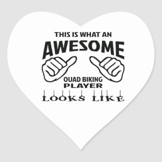 This is what an awesome Quad Biking player looks l Heart Sticker