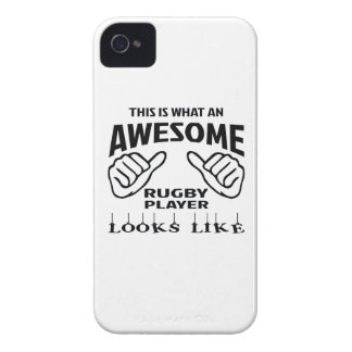 This is what an awesome Rugby player looks like iPhone 4 Case-Mate Cases