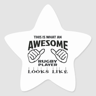 This is what an awesome Rugby player looks like Star Sticker