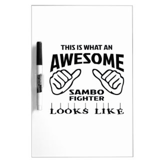 This is what an awesome Sambo Fighter looks like Dry-Erase Board