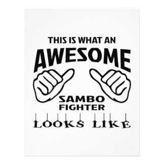 This is what an awesome Sambo Fighter looks like Letterhead