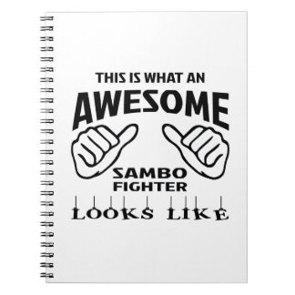 This is what an awesome Sambo Fighter looks like Spiral Notebook