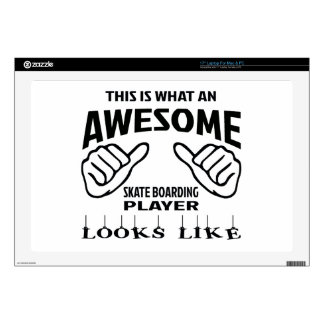 This is what an awesome Skate Boarding player look Laptop Decal