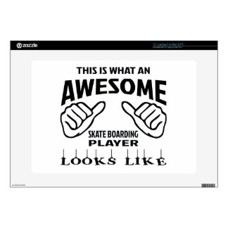 This is what an awesome Skate Boarding player look Laptop Decals