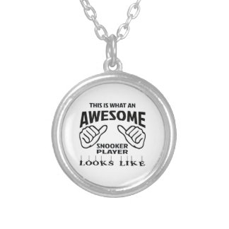 This is what an awesome Snooker player looks like Silver Plated Necklace