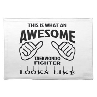 This is what an awesome Taekwondo Fighter looks li Cloth Placemat
