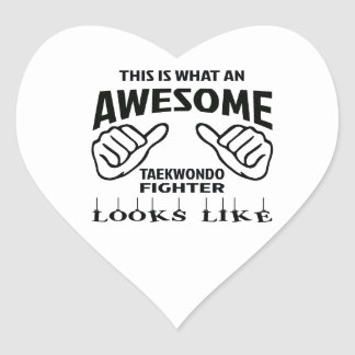 This is what an awesome Taekwondo Fighter looks li Heart Sticker