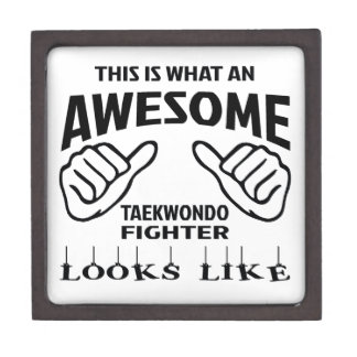 This is what an awesome Taekwondo Fighter looks li Jewelry Box