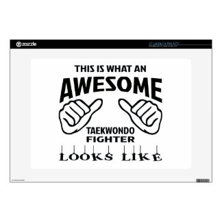 This is what an awesome Taekwondo Fighter looks li Laptop Skin