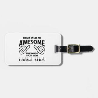 This is what an awesome Taekwondo Fighter looks li Luggage Tag