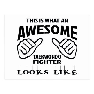 This is what an awesome Taekwondo Fighter looks li Postcard