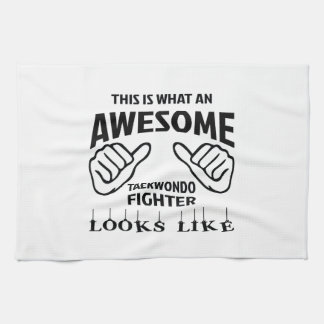 This is what an awesome Taekwondo Fighter looks li Towels
