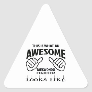 This is what an awesome Taekwondo Fighter looks li Triangle Sticker