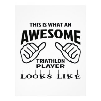 This is what an awesome Triathlon player looks lik Letterhead