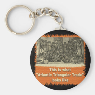 This is What Atlantic Triangular Trade Looks Like Basic Round Button Keychain