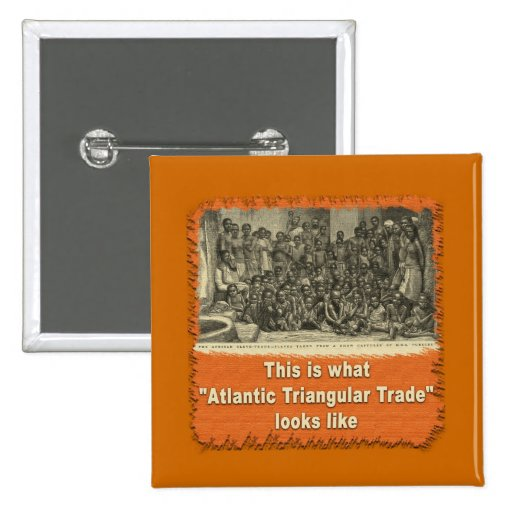 This is What Atlantic Triangular Trade Looks Like Pinback Button