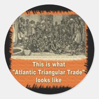 This is What Atlantic Triangular Trade Looks Like Classic Round Sticker