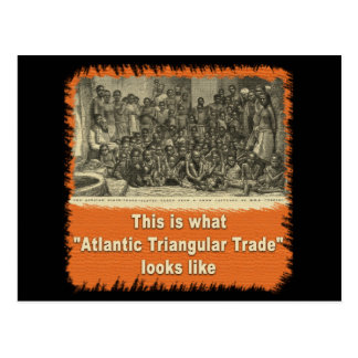 This is What Atlantic Triangular Trade Looks Like Postcard